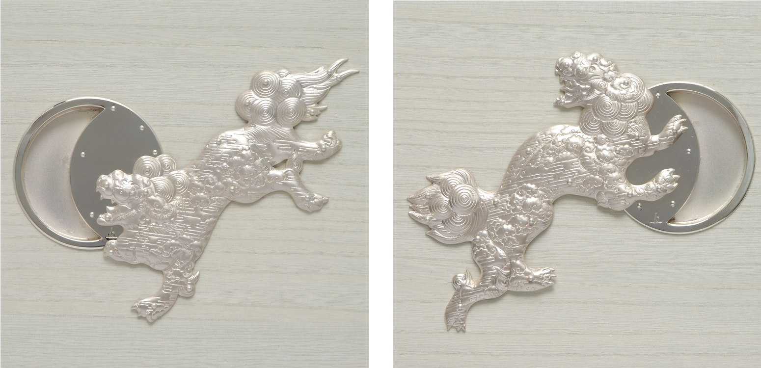 Chinese lion drawer handles