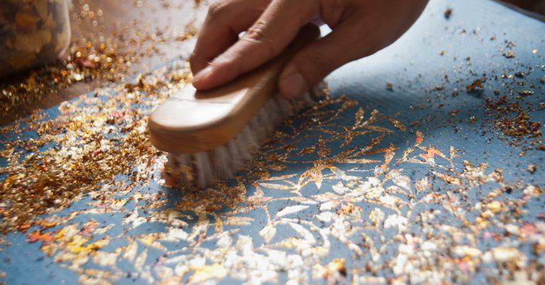gilded washi making