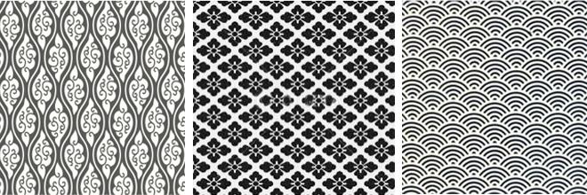 Yusoku pattern x 3