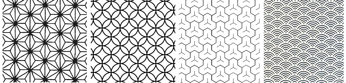 Yusoku patterns which are popular patterns in the west