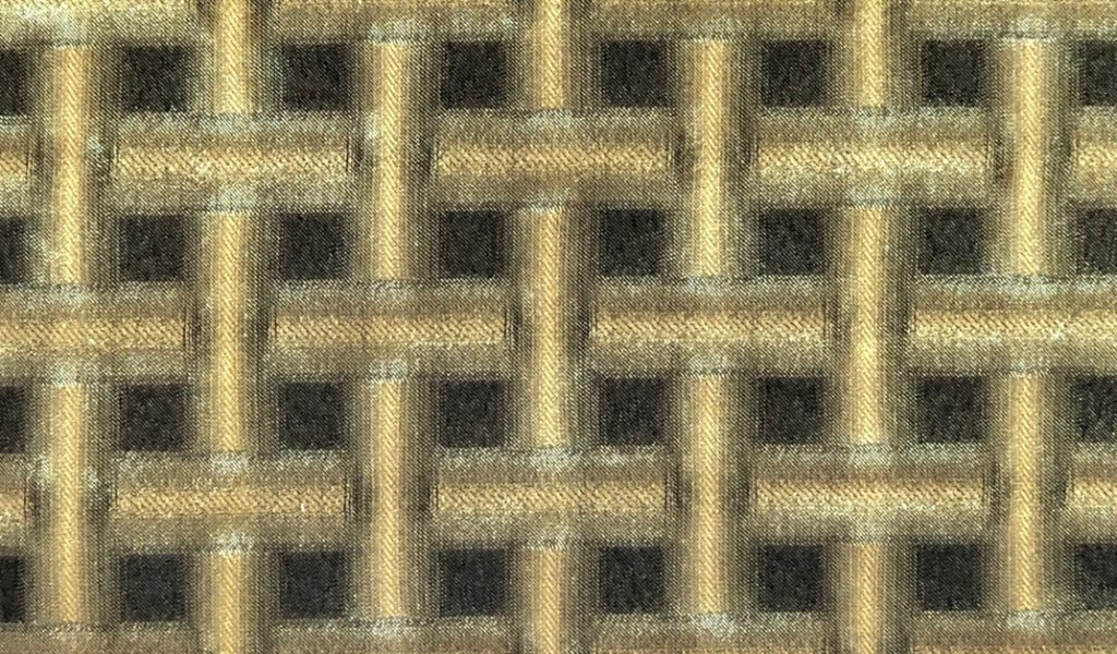 Gold Grid fabric by Sansai Kyoto